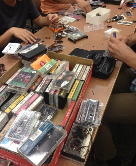picture of cassette tape splicing