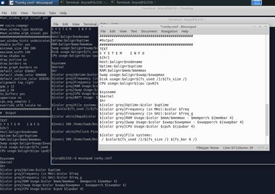 linux terminal code