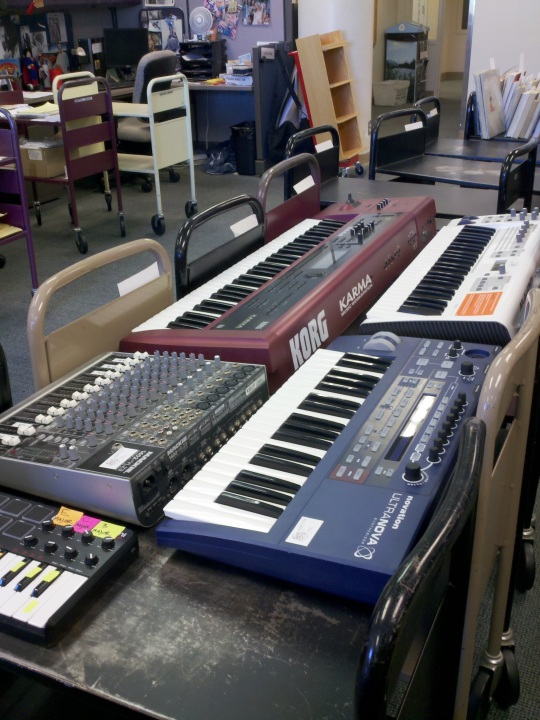 variety of synthesizers